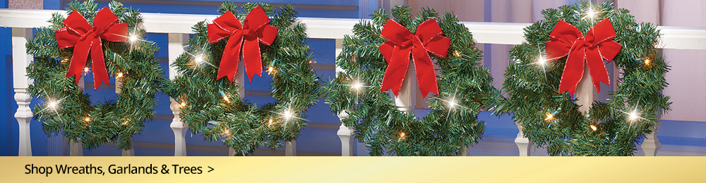Shop Wreaths, Garlands and Trees