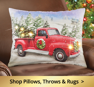 Shop Christmas Pillows, Throws and Rugs
