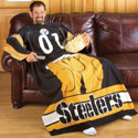 NFL Team Sports Huddler Throw with Sleeves