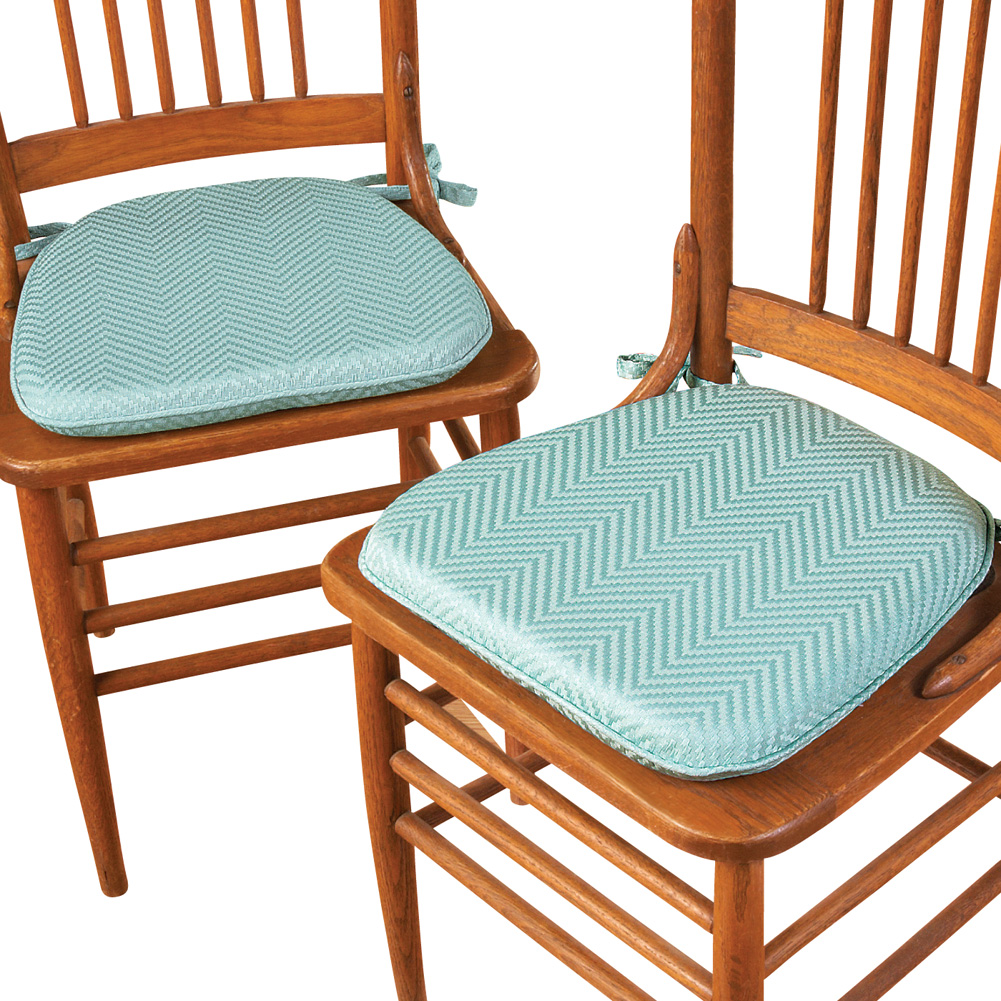 Foam Kitchen Chair Pads with Ties Set of 2 by