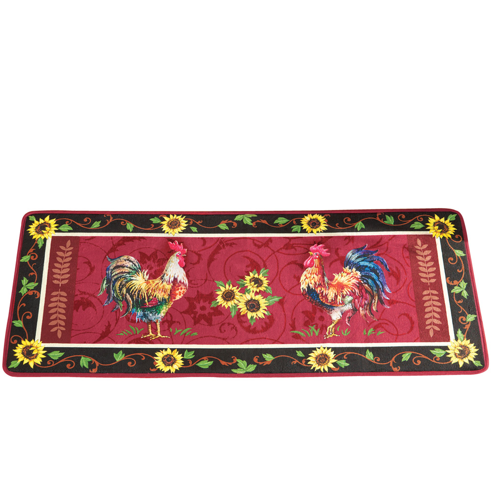 Cushioned French Country Rooster Rug, By Collections Etc