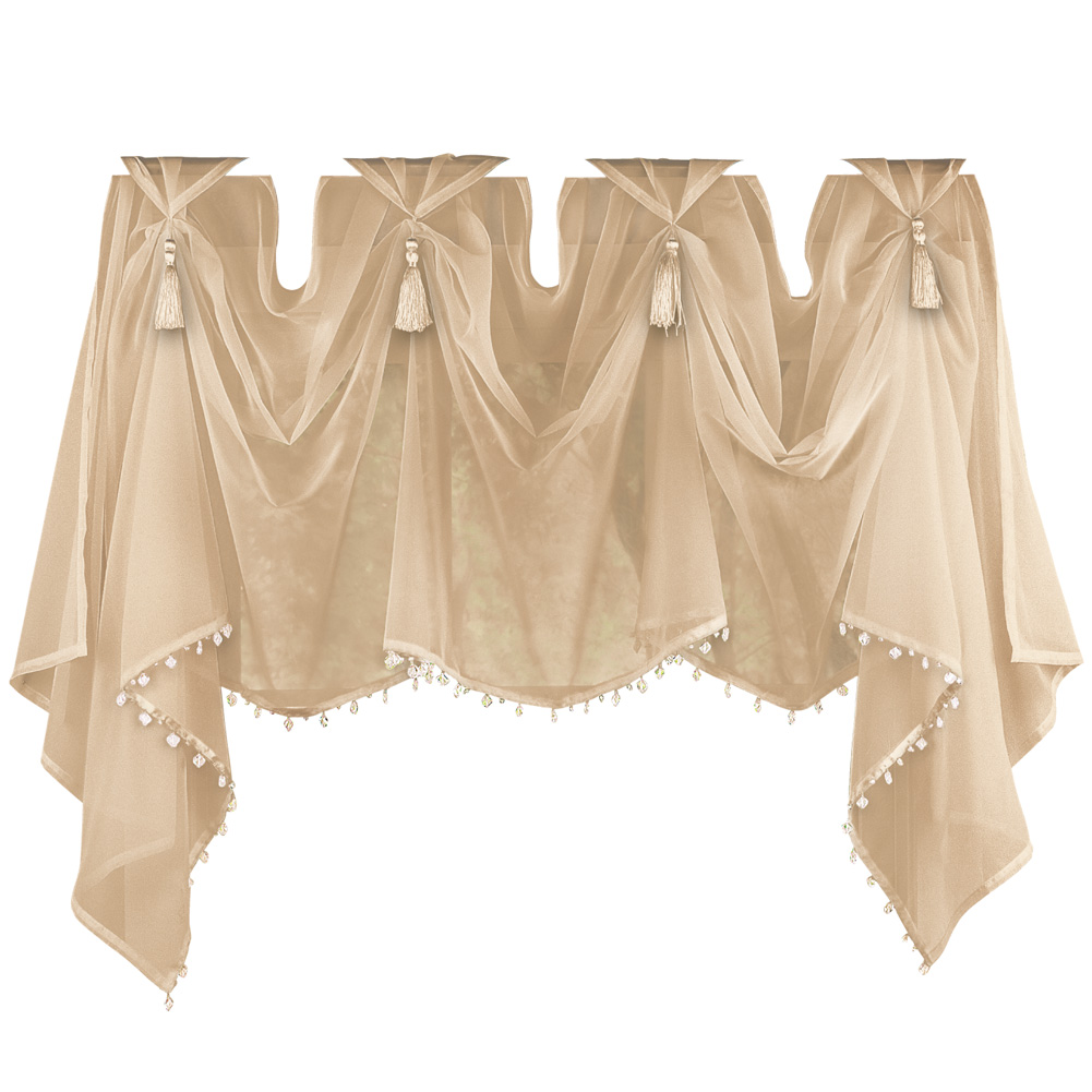 Tassel Sheer Scoop Valance Curtains By Collections Etc