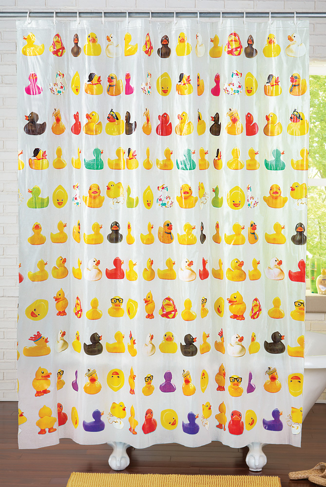 Collections Etc Rubber Ducky Shower Curtain Ebay