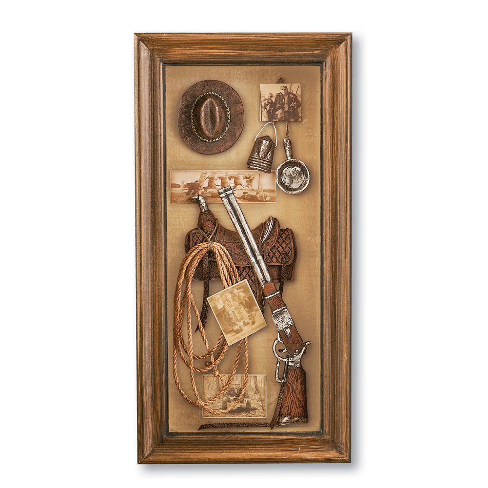 Kotel Decoration : Western themed shadow box wall art by collections etc ebay