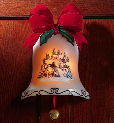 Musical Christmas Bell Door Decoration