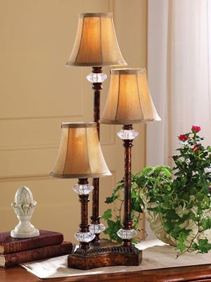 Traditional Candlestick Table Trio Lamp