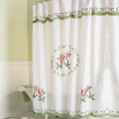 Hummingbird Bathroom Shower Curtain