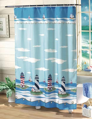 Nice Nautical Shower Curtains Lighthouse ~ Interior Design Styles