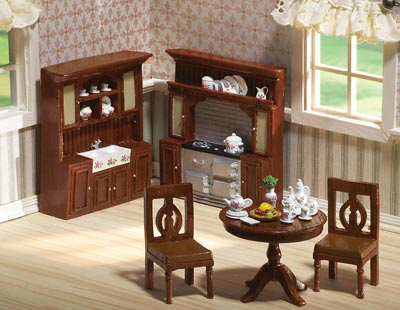 House Home Furniture on Miniature Kitchen Collectible Furniture Set From Collections Etc