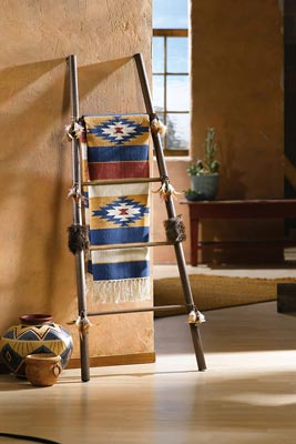 Southwestern Native American Throw Blanket Ladder