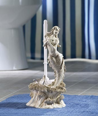 mermaid toilet paper holder collections etc find unique gifts at 117