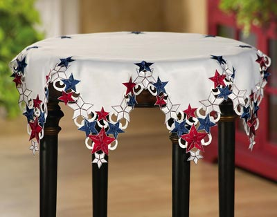 Americana Stars Patriotic Round Table Topper