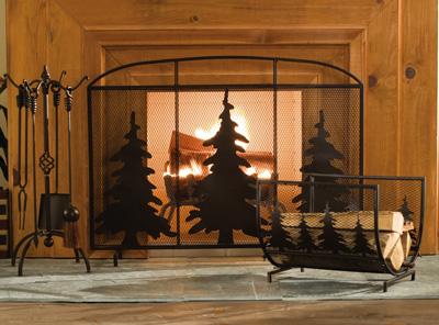 Evergreen Rustic Northwoods Firewood Log Rack