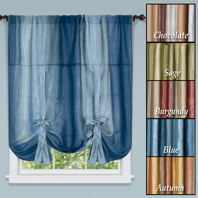 Ombre Sheer Tie Up Shade Window Panel From Collections Etc