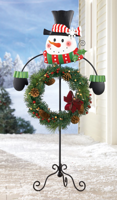 Snowman Holiday Wreath Holder
