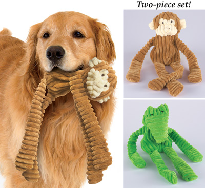 Stuffing Free Dog Toys - Set of 2