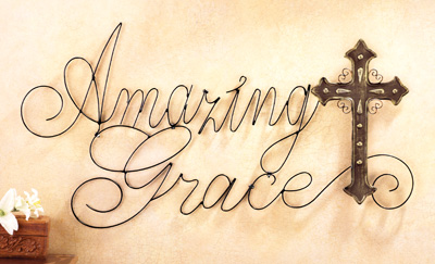 Amazing Grace Wall Art amazing grace metal cross wall art from collections etc.