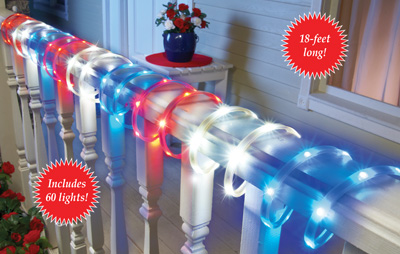 Patriotic Red White and Blue Rope Light