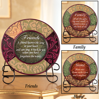 Decorative Inspirational Plate with Display Stand