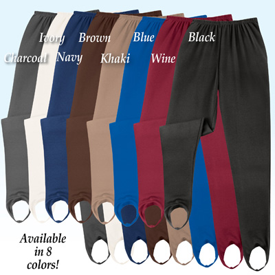Classic Tapered Leg Stirrup Pants
