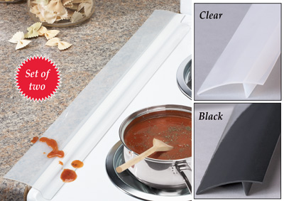 Silicone Stove and Countertop Gap Strips - Set of 2