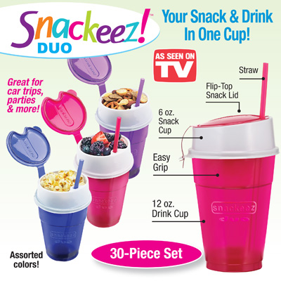 Snackeez Duo Snack & Drink Cup