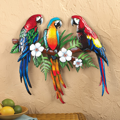 Tropical Parrot Wall Art From Collections Etc