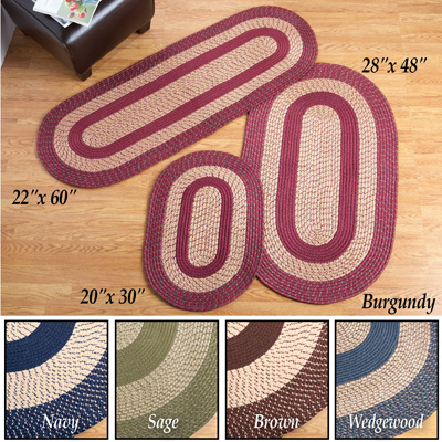 Traditional Braided Area Rug