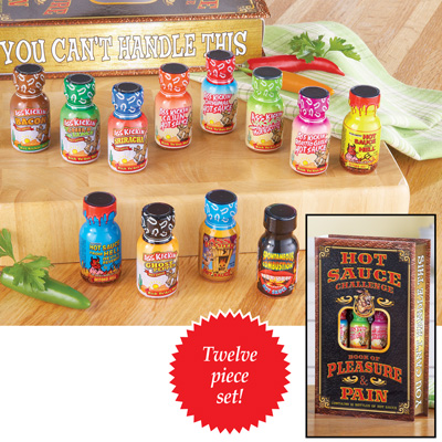 Pain and Pleasure Hot Sauce Gift Pack - Set of 12
