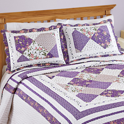 Kaylee Purple and White Floral Pillow Sham