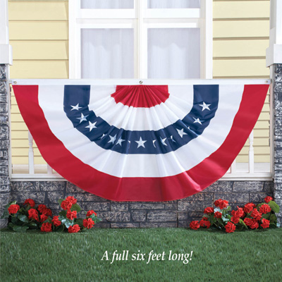 4th of July Patriotic Oversized Bunting