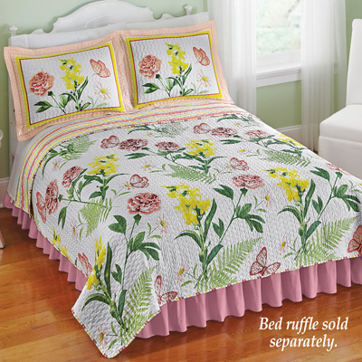 Butterfly Botanical Floral Quilt