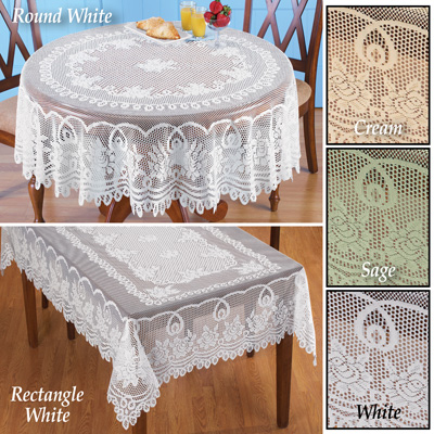 Crochet Lace Floral Tablecloth