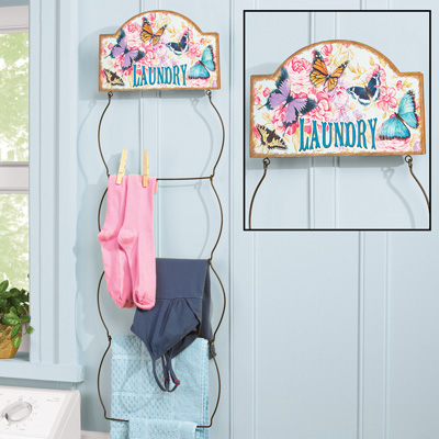 Decorative Butterfly Laundry Hanger
