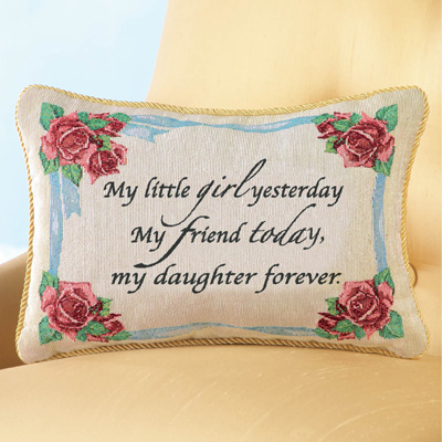 Daughter Forever Tapestry Throw Pillow