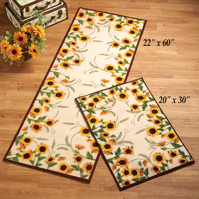 Autumn-inspired Sunflower Harvest Rug