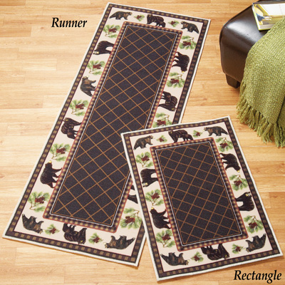 Woodland Brown Bear Accent Rug