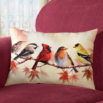 Birds on a Branch Accent Pillow
