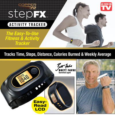 Copper Fit™ Step FX Fitness and Activity Tracker