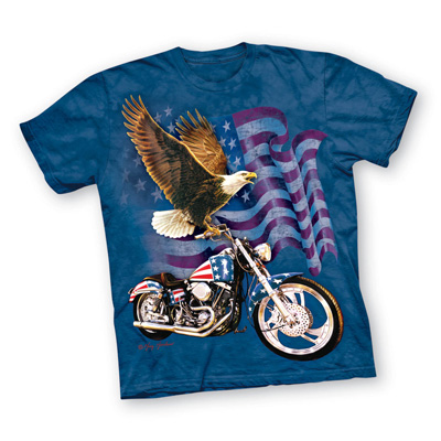"""Born to Ride"" American Flag T-Shirt"
