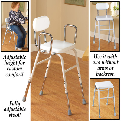 Adjustable Height Stool Chair