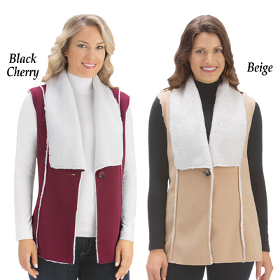 Polar Fleece Sherpa Lined Vest