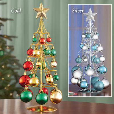 Tabletop Ornament Gold Christmas Tree