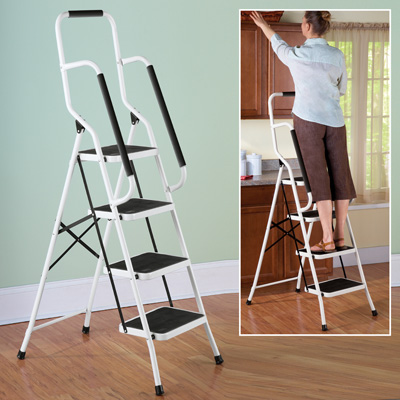 Four Step Safety Ladder With Grips From Collections Etc
