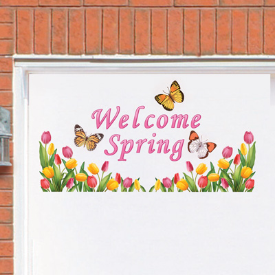Tulip Welcome Spring Garage Door Magnets