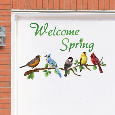 Welcome Spring Garage Door Magnets