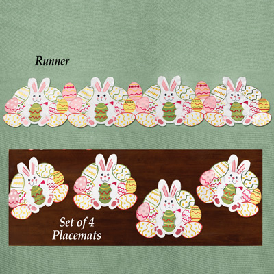 Easter Bunny & Eggs Table Linens