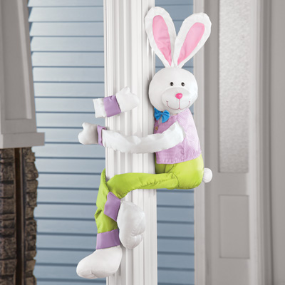 Easter Bunny Hugger with Posable Arms