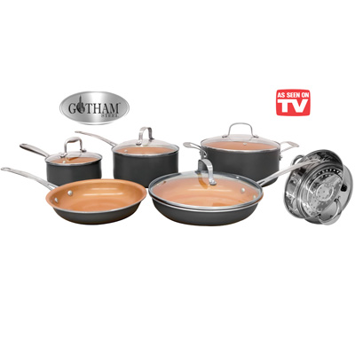 Gotham Steel Cookware Set 10 Pc From Collections Etc