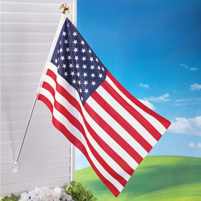 American Flag with Pole Set